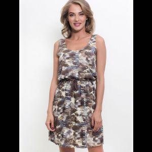 Платье без рукавов из вискозной ткани