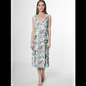 Платье с завышенной талией с цветочным принтом