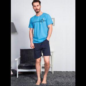 Мужской трикотажный комплект с шортами