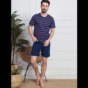 Мужской комплект с футболкой в узкую полоску