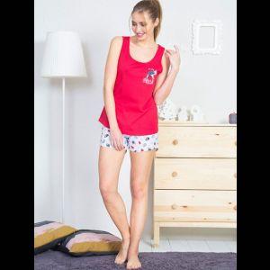 Женский домашний комплект с серыми шортиками