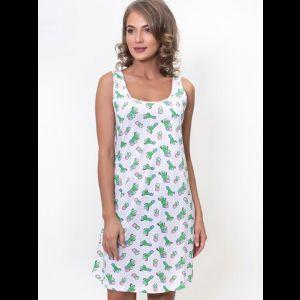 Короткая женская туника с кактусами