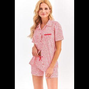 Женская пижама Amy из принтованной поцелуйчиками ткани