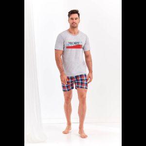Мужской комплект Szymon с клетчатыми шортами