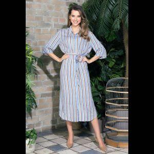 Длинное платье-рубашка Noemi на пуговках