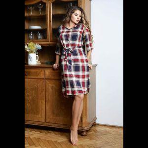 Платье-рубашка Yuna на пуговках с поясом