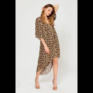 Женственная туника с леопардовым принтом