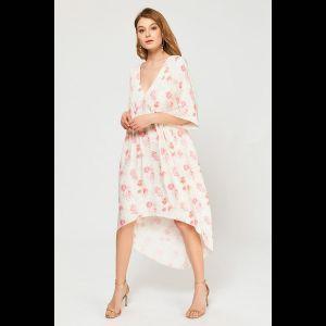 Женственная туника с цветочным принтом