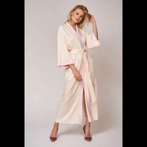 Длинный халат с атласной отделкой