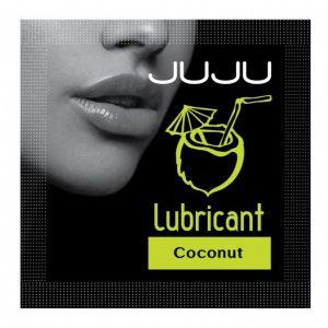 Пробник съедобного лубриканта JUJU с ароматом кокоса - 3 мл.