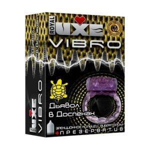Эрекционное виброкольцо Luxe VIBRO  Дьявол в доспехах