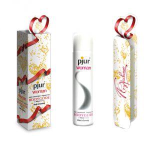 Концентрированный лубрикант на силиконовой основе pjur WOMAN в подарочной упаковке - 100 мл.