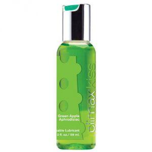 Лубрикант с ароматом зелёного яблока Climax Kiss - 59 мл.