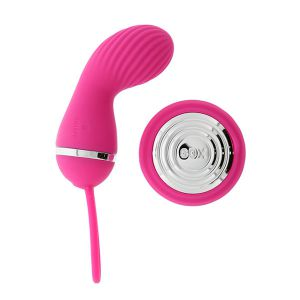 Розовый вибростимулятор с дистанционным управлением LUCY PINK