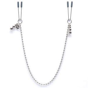 Зажимы для сосков на нитке бусин At My Mercy Chained Nipple Clamps