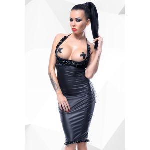 Платье с открытой грудью и вырезом в форме сердца сзади Laureen