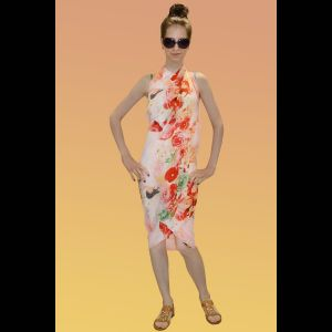 Парео Corallo с цветочным принтом