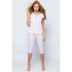 Пижама Amanda с бриджами в горошек