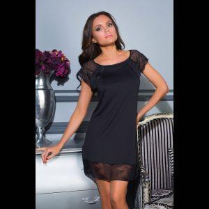 Короткая сорочка Elegance de lux с кружевом