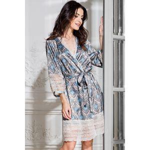 Короткий халат Palermo с кружевной отделкой