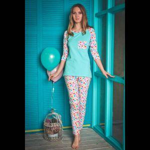 Хлопковая пижама Kaleidoscope: футболка с кармашком и штаны