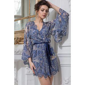 Короткий ажурный халат-кимоно Michelle