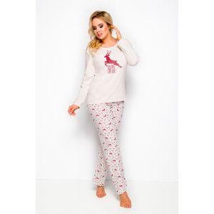 Пижама Ala со штанами, украшенными ярким принтом в виде оленей