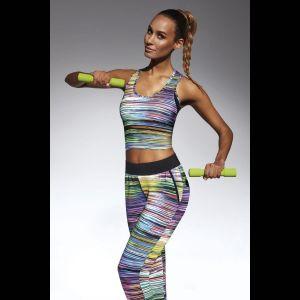 Разноцветная майка для фитнеса Tropical