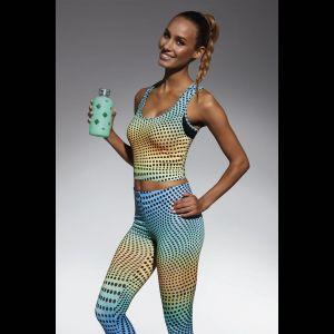 Разноцветная майка для фитнеса Wave в горох