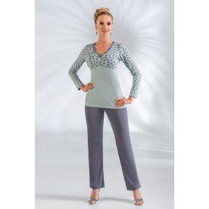 Нежная пижама Tina с фиолетовыми штанами