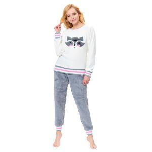 Плюшевая пижамка с енотом