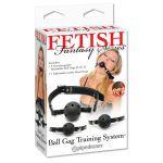Система кляпов из 3 шариков Ball Gag Training System - фото 206399