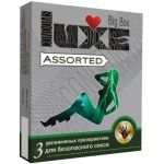 Презервативы LUXE Assorted с различным рельефом - 3 шт.